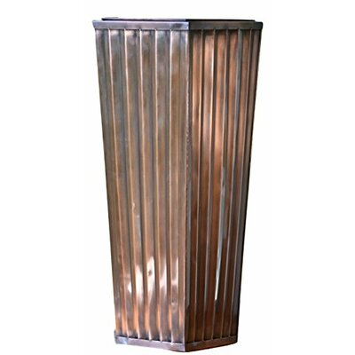 "Stainless Steel Pot Planter Size: 35"" H x 13"" W x 13"" D GAR546 Large"
