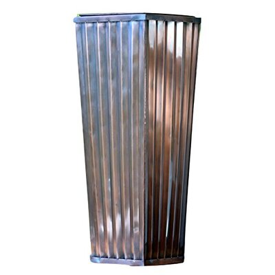 "Stainless Steel Pot Planter Size: 29"" H x 11"" W x 11"" D GAR546 SMALL"