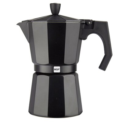 Kenia Aluminum 9 Cups Coffee Maker Finish: Aluminum black 01PACFKEB09