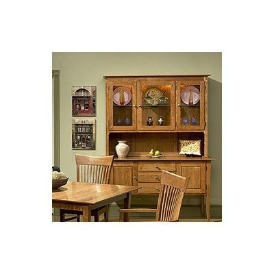 Image of Chatham Back Bay Cherry Open China Cabinet (CX1231)