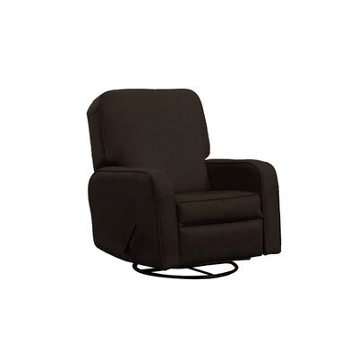 Upholstered Glider Lever Actuated Recliner Color: Bella Chocolate