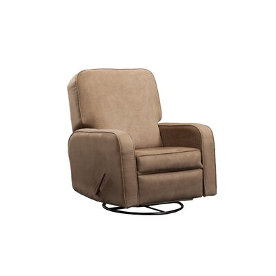 Upholstered Glider Lever Actuated Recliner Color: Bella Buckwheat