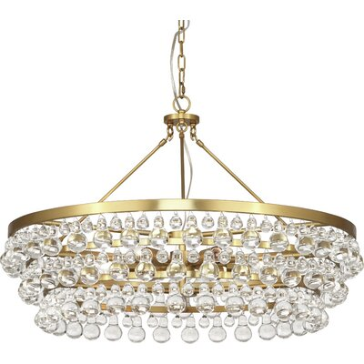Bling 6-Light Crystal Chandelier Finish: Antique Brass