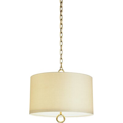 Jonathan Adler Meurice 2-Light Drum Pendant Finish: Antique Brass