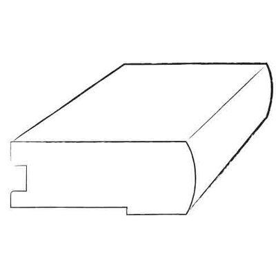 0.38 x 2.75 x 78 Flush Stair Nose in Leather / Leather