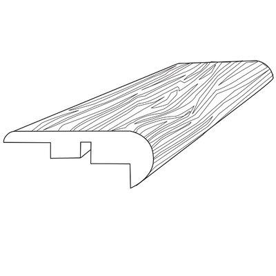 0.31 x 2.21 x 94 Stair Nose in Saddlehorn