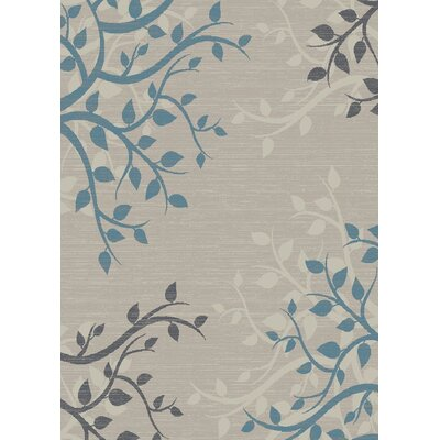 Galleria Vinings Gray/Blue Area Rug Rug Size: 53 x 73