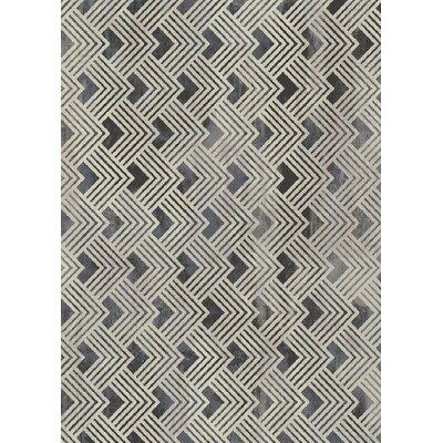 Galleria Nickel Gray Area Rug Rug Size: 53 x 73