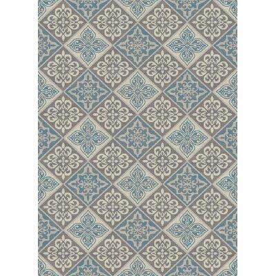 Galleria Savannah Gray/Blue Area Rug Rug Size: 710 x 910