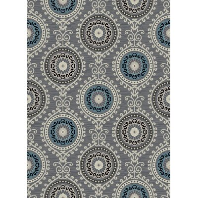 Galleria Summit Gray/Blue Area Rug Rug Size: 710 x 910