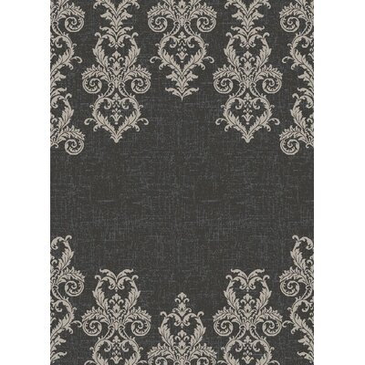 Galleria Kingston Black/Gray Area Rug Rug Size: 710 x 910