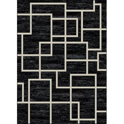 Galleria Maze Black/Cream Area Rug Rug Size: 710 x 910