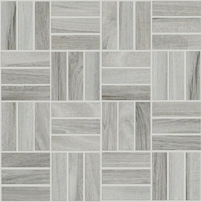 Fairlee Porcelain Mosaic Tile in Ash