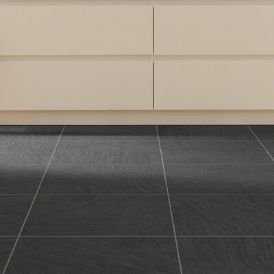 New Dawn 18 x 18 x 2.5mm Luxury Vinyl Tile in Midnight