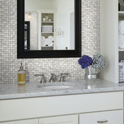 Stately 1 x 1 Natural Stone Mosaic Tile in Brylee