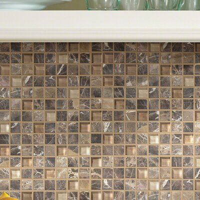 Stately 1 x 1 Marble Mosaic Tile in Alma