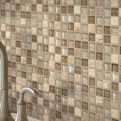 Stately 1 x 1 Natural Stone Mosaic Tile in Faith