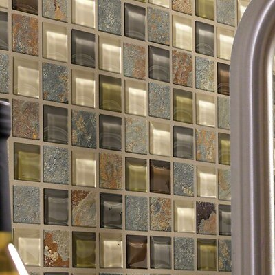 Stately 1 x 1 Slate Mosaic Tile in Webber