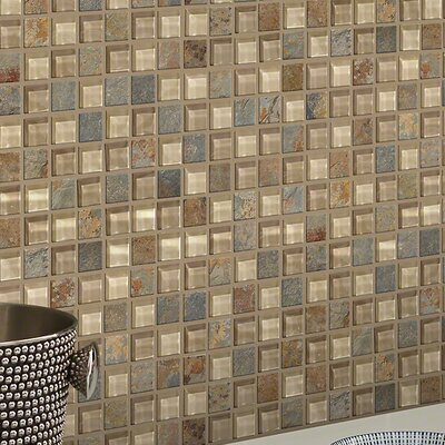 Stately 1 x 1 Slate Mosaic Tile in Bostwick