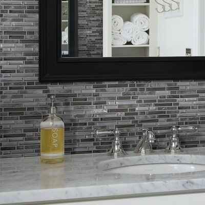Stately Random Sized Natural Stone Mosaic Tile in Beatrix