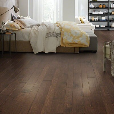 Farmton Random Width Engineered Maple Hardwood Flooring in Tatum
