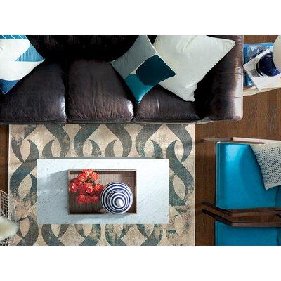 Galleria Lenox Gray/Blue Area Rug Rug Size: 53 x 73