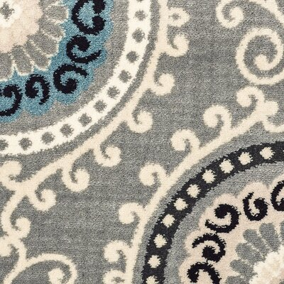 Galleria Summit Gray/Blue Area Rug Rug Size: 53 x 73