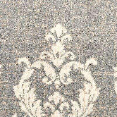 Gallerai Kingston Gray/Cream Area Rug Rug Size: 53 x 73