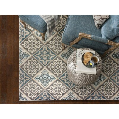 Galleria Savannah Gray/Blue Area Rug Rug Size: 710 x 910