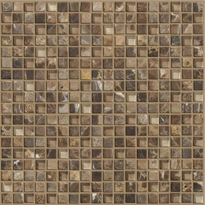 "Mixed Up 5/8"" x 5/8"" Mosaic Marble Accent Tile in Dakota"