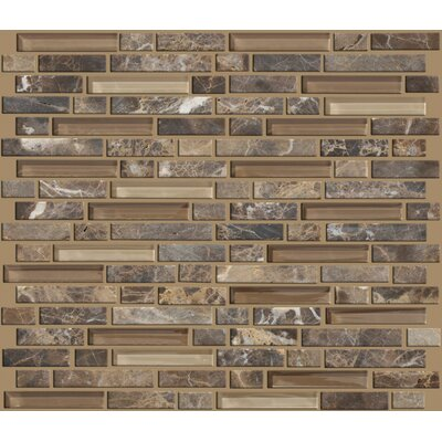 "Mixed Up 12"" x 12"" Random Linear Mosaic Marble Accent Tile in Dakota"