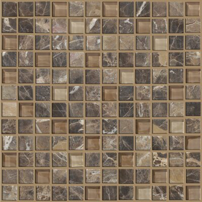"Mixed Up 1"" x 1"" Mosaic Marble Accent Tile in Dakota"