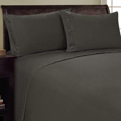 Sweet Pea Sheet Set Color: Gray, Size: Queen