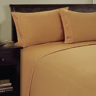 Sweet Pea Sheet Set Size: Full, Color: Camel
