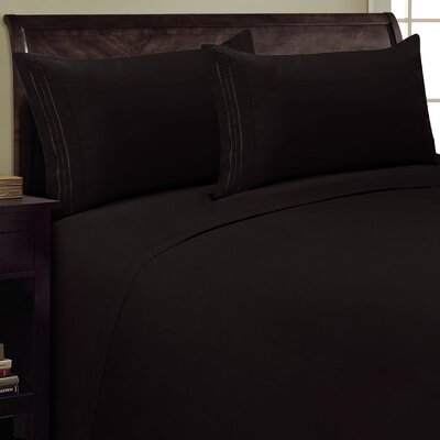 Three Lines Sheet Set Size: California King, Color: Black