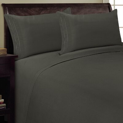Three Lines Sheet Set Color: Gray, Size: Queen