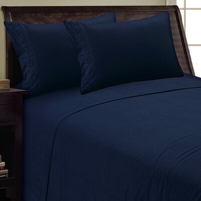 Sweet Pea Sheet Set Size: King, Color: Navy
