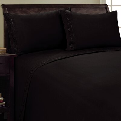 Sweet Pea Sheet Set Size: Full, Color: Black