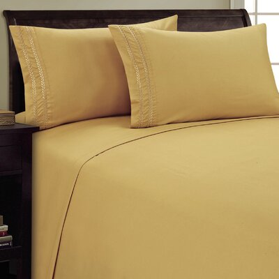 Chain Link Sheet Set Size: Queen, Color: Camel