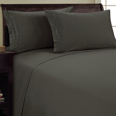Chain Link Sheet Set Color: Gray, Size: Full