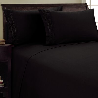 Chain Link Sheet Set Size: Queen, Color: Black