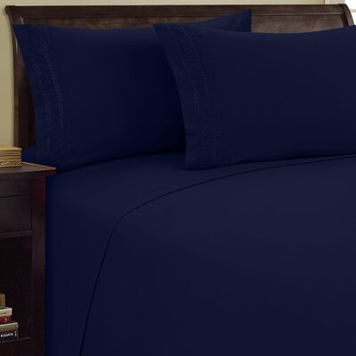 Chain Link Sheet Set Size: King, Color: Navy