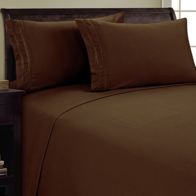 Chain Link Sheet Set Size: King, Color: Chocolate