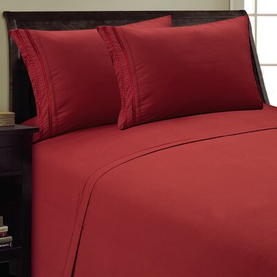 Chain Link Sheet Set Size: Full, Color: Burgundy