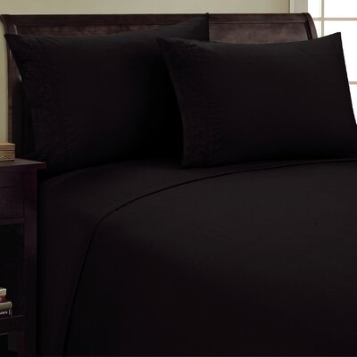 Scroll Design Sheet Set Size: Twin, Color: Black
