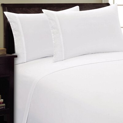 Scroll Design Sheet Set Size: Twin, Color: White