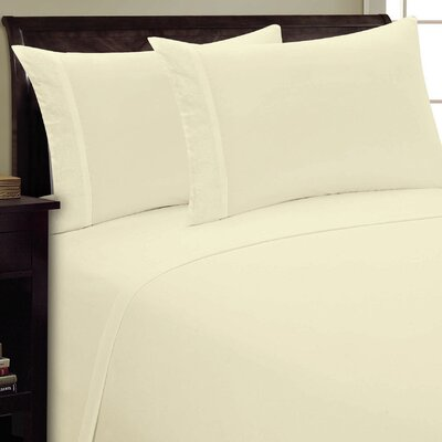 Scroll Design Sheet Set Size: Queen, Color: Cream