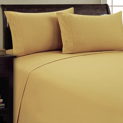 Lotus Leaf Sheet Set Size: Queen, Color: Camel
