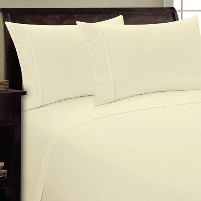 Lotus Leaf Sheet Set Size: Queen, Color: Cream