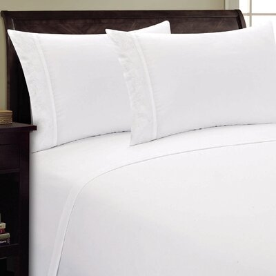 Lotus Leaf Sheet Set Size: Queen, Color: White